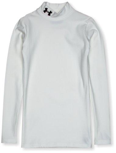 Under Armour Maglietta Bambino Ua Cg Compression Mock, Bianco (weiß), 128 cm
