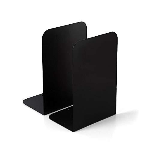 XGzhsa Fermalibri in Metallo, Reggilibri Pesanti, 2 Pezzi Fermalibri in Metallo Fine Libro Creativo Organizzatore Ordinato da Scrivania per lufficio Scolastico a Casa (nero)