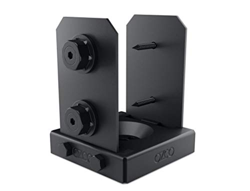 OZCO 52107 Ironwood Lite 4x4 Post Base, (1 per Pack)