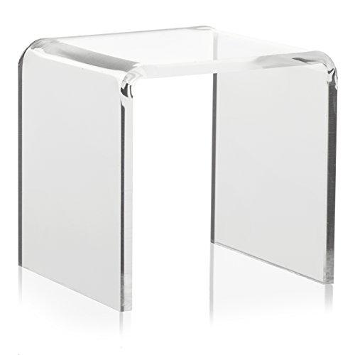 U-Ständer/Winkel aus PLEXIGLAS® (5x5cm) als Acrylglas Aufsteller/Ständer für Schmuck und Figuren in Vitrine/Schaufenster
