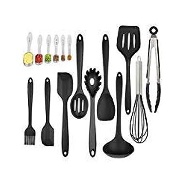 Silicone Kitchen Utensil Set 16 Piece Kitchen Tool Set Cooking Utensils Set Non-Stick Heat-Resistant with Spoons set
