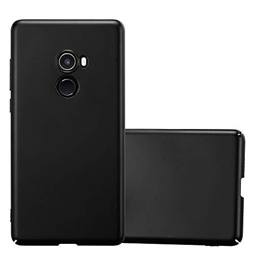 Cadorabo Funda para Xiaomi Mi Mix 2 en Metal Negro - Cubierta Protección de Plástico Duro Super Delgada e Inflexible con Antichoque - Case Cover Carcasa Protectora Ligera