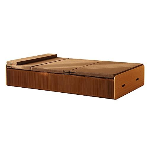 HGFDSA Letto Pieghevole, mobili multifunzionali dal Design Creativo in Carta Kraft, notevole Risparmio di Spazio Senza necessità di Montaggio, Ideale per Ufficio/Soggiorno,Double Bed,120cm
