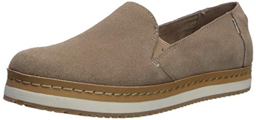 TOMS Damen Women Palma Leather Wrap Espadrilles, Grau (Taupe Gray 000), 43.5 EU