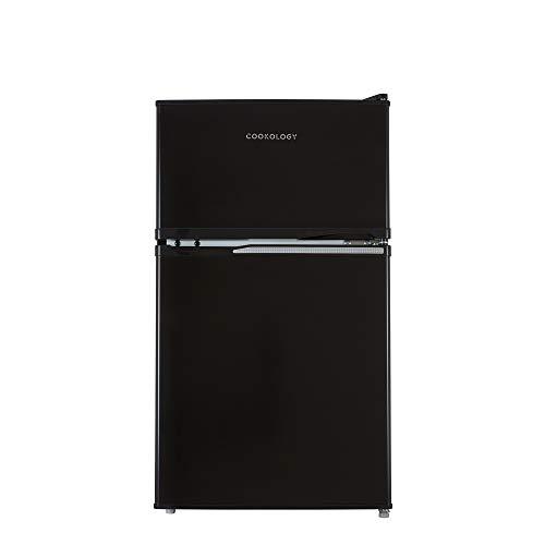 Cookology UCFF87 47cm Freestanding Undercounter 2 Door Fridge Freezer (Black)