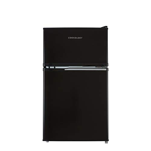 Cookology UCFF87 47cm Freestanding Undercounter 2 Door Fridge Freezer (Black)