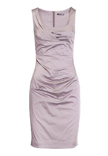 Vera Mont Damen Cocktail Kleid 0070/4804, Midi, Einfarbig, Gr. 42, Braun (Smoky Taupe 7322)