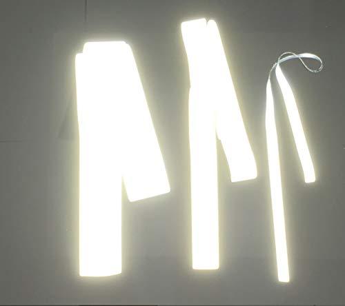 300cm Reflektorband – stark reflektierendes Band/Reflexstoff Meterware – Reflektorstoff SILBER – Reflektor Reflektoren Annähen o. Aufbügeln/Bügeln – Sicher in der Nacht (Zum Annähen, 30mm - 3Meter)