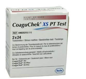 CoaguChek XS PT Teststreifen 2 x 24 Stück