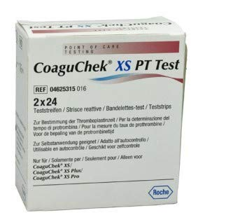 CoaguChek XS PT - Tiras de prueba (2 x 24 unidades)
