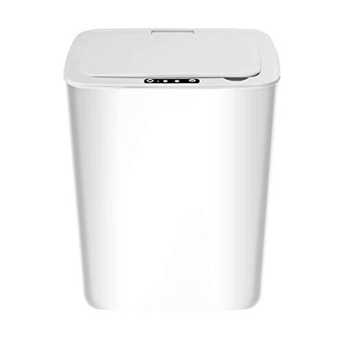 Dyna-Living Poubelle Domestique,Poubelle à Détection Automatique pour Salle de Bain,14L,Plastique(ABS + PP),Blanc