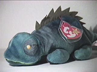 TY Beanie Baby - IGGY the Iguana (dark fabric w/ spikes)