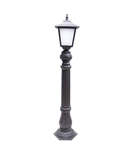 FONDERIA BONGIOVANNI Lampione in ghisa per casa Giardino Parco palo Completo di Lanterna