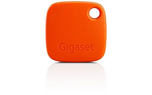 Gigaset G-tag Beacon mit Appfunktion - Bluetooth Schlüsselfinder zum einfachen Auffinden von Schlüssel, Taschen, Koffern, Handys - Key Tracker - orange