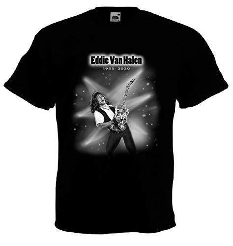Eddie Van Halen Tribute T-shirt, 1955-2020, S to 3XL