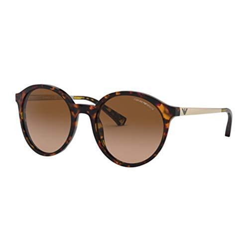 Emporio Armani 0EA4134 Gafas de sol, Havana Brown/Orange, 53 para Mujer