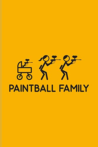 Paintball Family: Funny Paintballing Undated Planner   Weekly & Monthly No Year Pocket Calendar   Medium 6x9 Softcover   For Games & Camouflage Fans