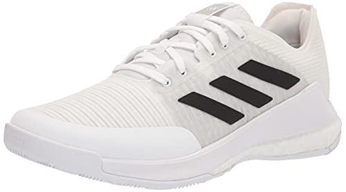 adidas Men's Crazyflight Volleyball Shoe, White/Black/Grey, 8.5