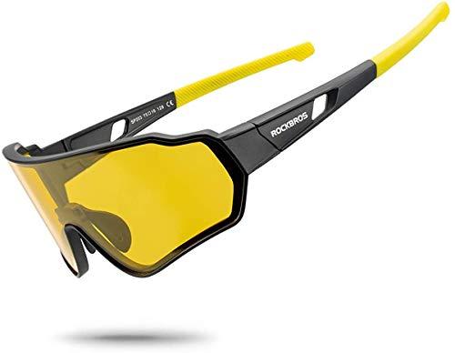 ROCKBROS Gafas de Sol Polarizadas Deportivas para Hombre y Mujer Protección UV...