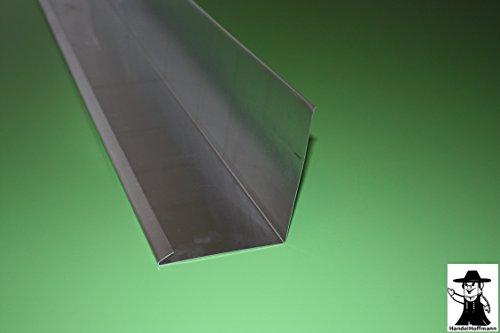 Wandanschlußblech 2 m lang Aluminium Natur 0,8 mm (klein)