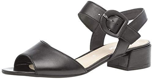 Gabor Damen Sandaletten 21.702.27, Frauen Sommerschuh,Sommersandale,bequem,flach,schwarz,38 EU / 5 UK