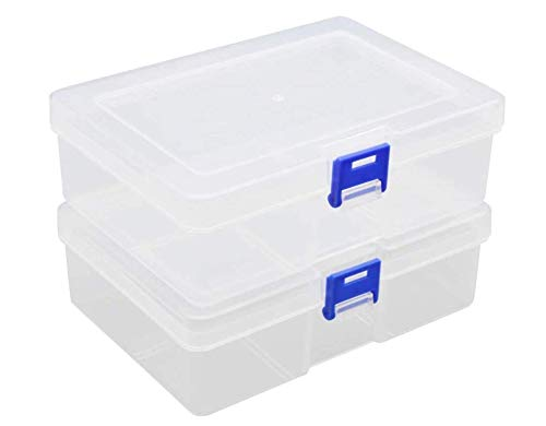 Crayon Storage Box, Transparent Plastic Storage box, Stackable Fixed Cover Clip Box, Can Be Used For Office, Home And Industrial