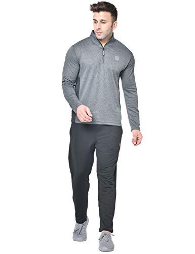 CHKOKKO Men Full Sleeve Zipper Sports Gym Track suit