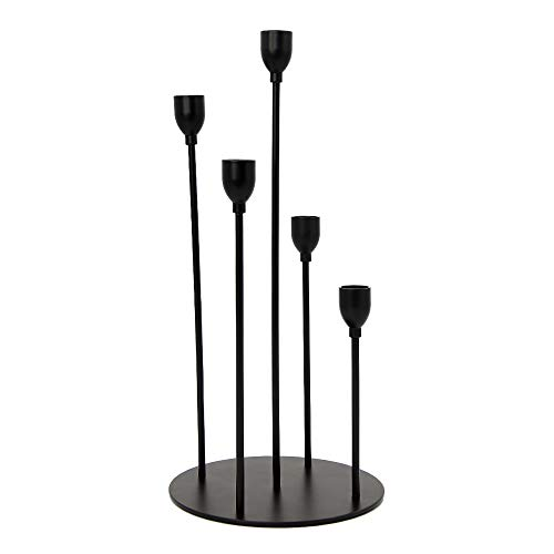 VINCIGANT Kerzenhalter aus Metall, ideal für Stabkerzen (Gold)