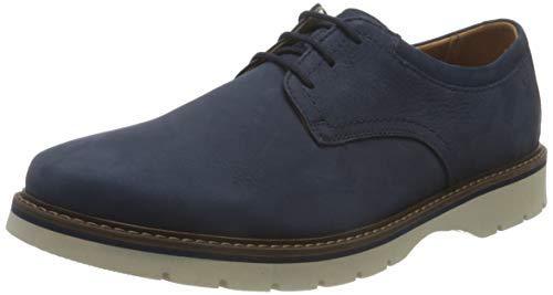 Clarks Bayhill Plain, Oxford Plano Hombre, Color Azul Oscuro, 45 EU