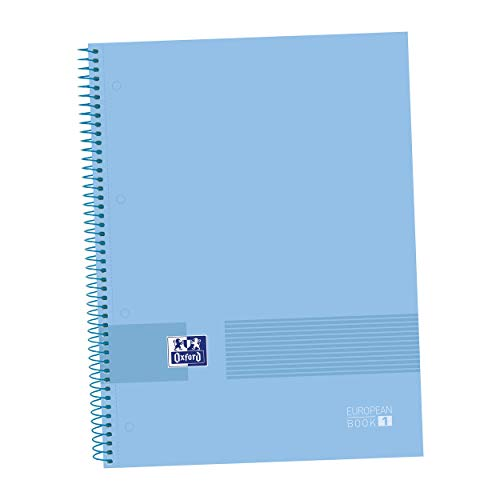 Oxford, Cuaderno Microperforado A4+, Europeanbook1 Oxford & You, Tapa extradura, Cuadrícula 5x5, 80 Hojas, 90 grs, Color Periwinkle Blue