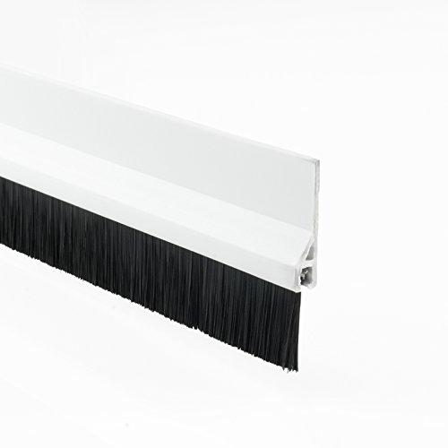 [DQ-PP] Dichtungsbürste PVC Weiss 98cm Türdichtung Türbodendichtung Bürstendichtung