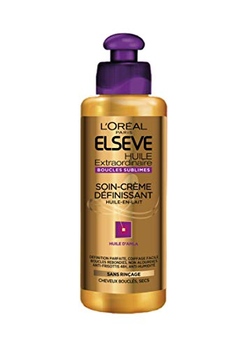 avis shampoing cheveux bouclés professionnel L'Oreal Paris Elsive Defining Cream – Pour cheveux bouclés – Huile extraordinaire – 200 ml