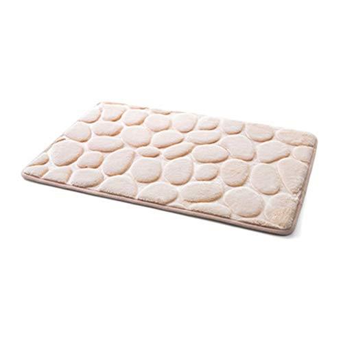 Multi-use Patroon Vloer Vloerbedekking Flanel-made kussen Soft Bath Mat Living Room Bathroom absorberende Non-slip mattenset vloermatten (Color : Light tan Carpet, Size : 40x60cm)