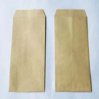 長形1号封筒 クラフト/茶 85g/m B4 3つ折 【郵便番号枠ナシ】 テープ 100枚