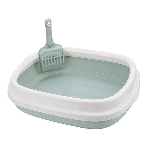 Huisdier toilet LKU Kitten indoor huishoudelijke plastic zandbak met lepel kattenbak kattenbak hond huisdier toilet, blauw