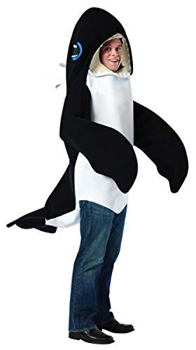 Rasta Imposta mens Killer Whale Adult Sized Costumes, Black/White, One Size US
