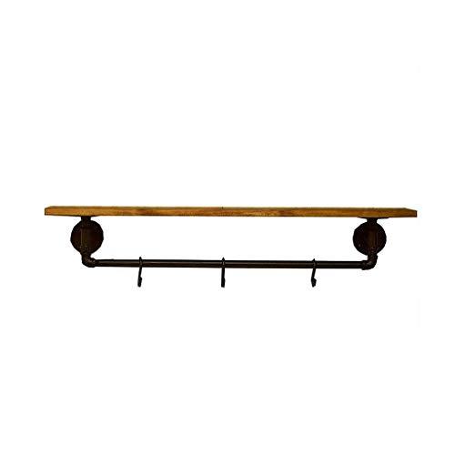 CTRGSM Estantes flotantes, estantes de Pared flotantes Estante suspendido Mueble de Cocina de Madera rústico con hools almacenaje de Almacenamiento FDWFN (Size : 80×20×20cm)