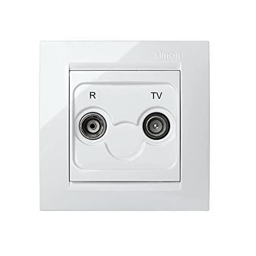 SIMONBRICO 0 base toma television blanco simon 15