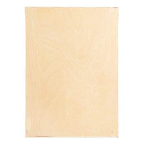 Tablero de dibujo hueco de madera de álamo, adecuado para papel de tamaño A3 para uso en el aula, estudio o campo(8K hollow drawing board)