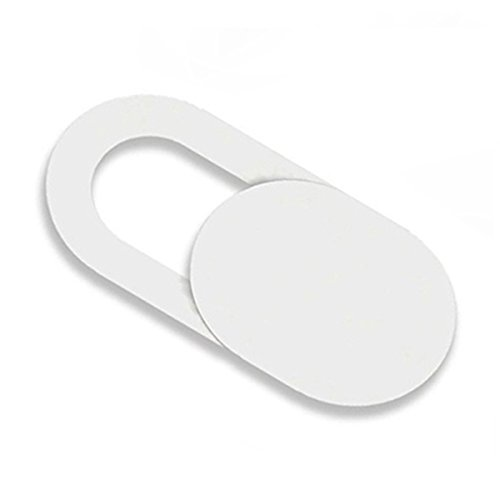 Cikuso 3pzs Pegatinas Escudo de Camara de plastico Proteccion de miradas Anti-Hacker para movil PC Tablet PC Ordenador portatil Cubierta de privacidad Blanco