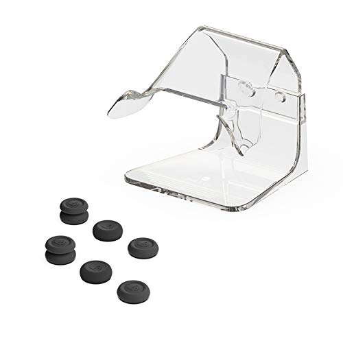 Skull & Co. Phantom Stand Bundle: Transparent Controller Stand Holder for Xbox Controller and Black Thumb Grips for Xbox Controller
