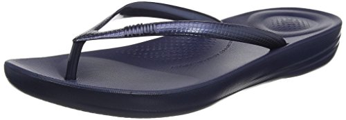 Fitflop Iqushion Ergonomic Flip-flops, Damen Zehentrenner, Blau (Midnight Navy 399), 39 EU (6 UK)