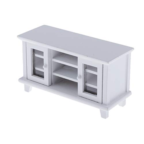 Toygogo 1:12 Dollhouse Wooden Furniture, Miniature White TV Cabinet for Doll House Life Scenes Decor, Kids Pretend Play Toy -  67ac387a1a38af8fda9c016e0ecaf33a