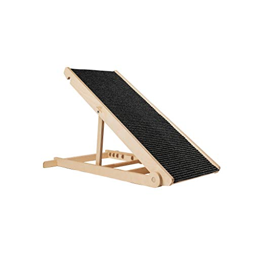 """Adjustable Pet Ramp for All Dogs and Cats - for Couch or Bed with Paw Traction Mat, 40 in Long and Adjustable from 14"""" to 24"""" - Rated for 200LBS - Made in USA - Great for Small and Older Animals"""