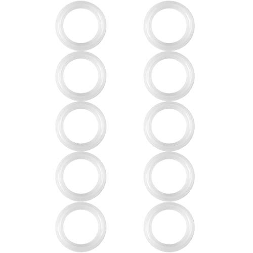 10 piezas juntas de anillos de sellado de silicona junta de abrazadera de silicona sanitaria para prueba de fugas