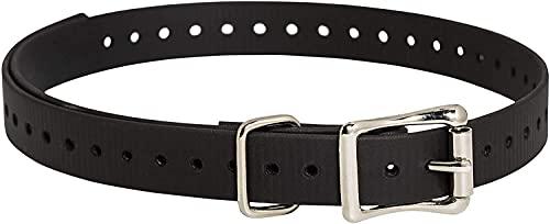 Hundehalsbandbänder mit doppelter Schnalle, für alle Marken von Haustier-Schock-Rinden-Halsbändern und unsichtbaren Zäunen, 1,9 cm, Schwarz