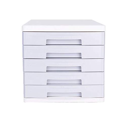 Hyy-yy Clasificadores cajón, 5 Capas con Llave Oficina de Mesa de Escritorio del cajón del Armario de Datos Periódico Bastidores (Tamaño: 10.6in 13.8in * * 10in)