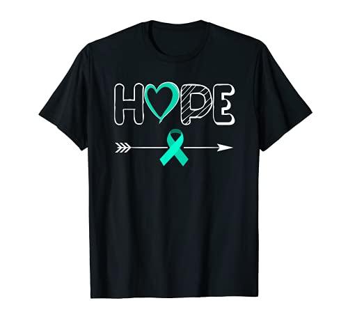 HOPE Síndrome de Ovario Poliquístico Cinta Verde azulado Camiseta