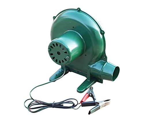 Yx-outdoor Soplador eléctrico de 12V CC, Estufa de leña Familiar, Utensilios de Picnic, Hoja de Hierro Engrosada, Motor de Cobre Puro, soplador de Barbacoa centrífugo,80W