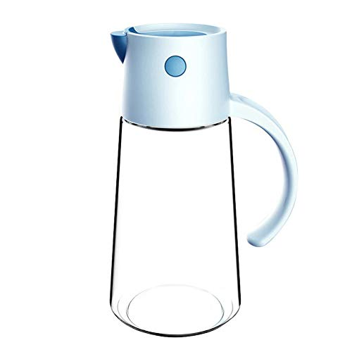 Botella de aceite de vidrio Drizzler Auto Flip Dispensador de aceite de oliva Botella a prueba de fugas Contenedor de condimentos con tapa automática y tapón para cocinar salsa de soja de vinagre